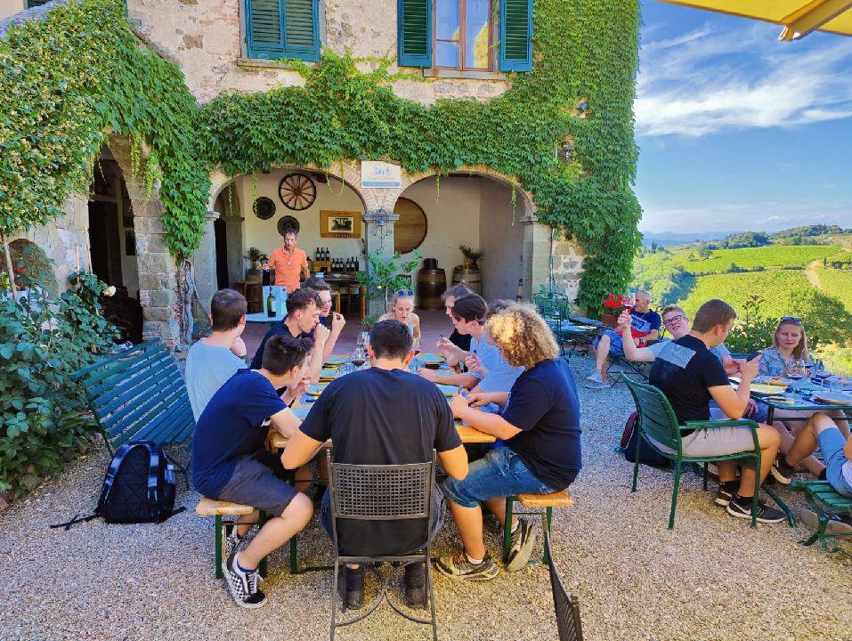 Abschlussreise Toskana 9. Weinverkostung Cianti Tal