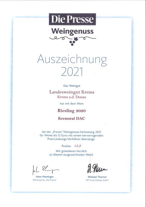"""""""Presse""""-Weingenuss-Verkostung 2021"""