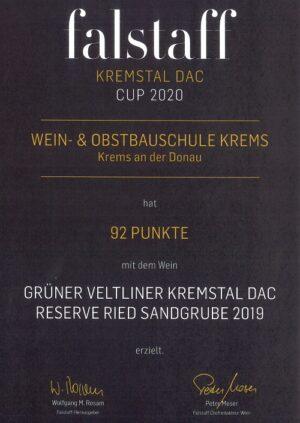 Grüner Veltliner Kremstal DAC Reserve Ried Sandgrube 2019